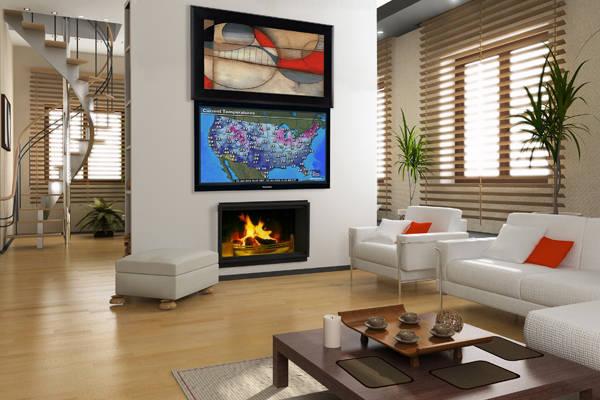 Hidden TV Behind Painting