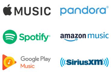 Sonos music you love, Apple Music, Pandora, Spotify, Amazon Music, Google Play, Sirus XM