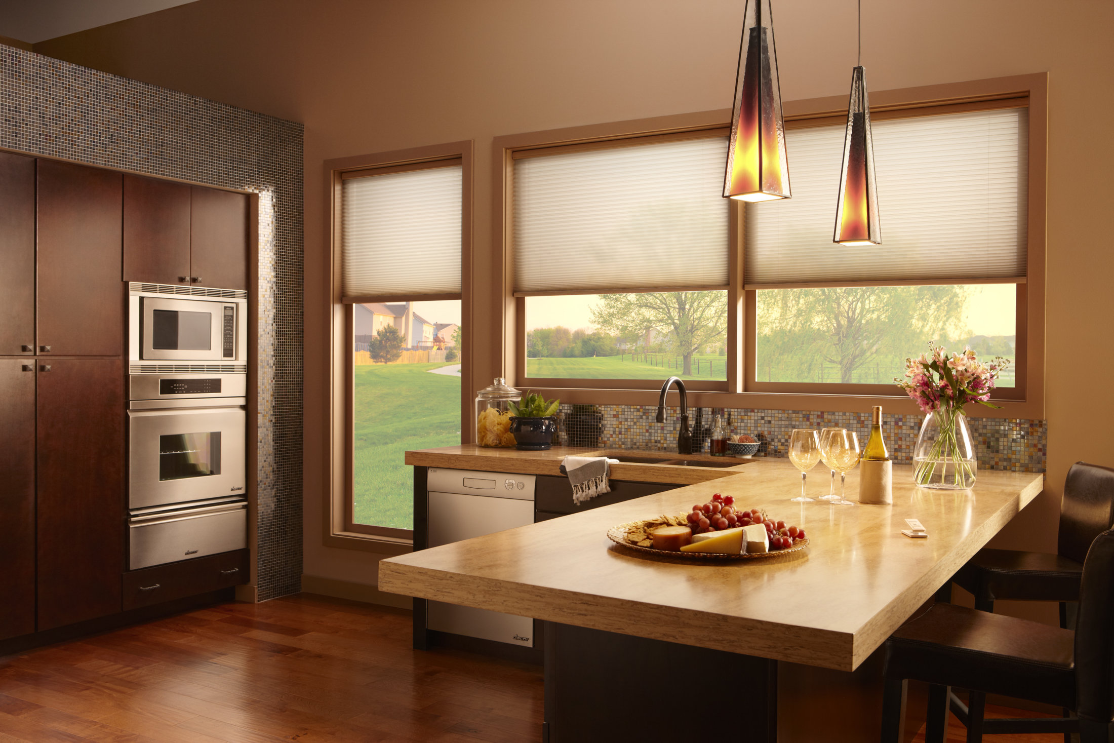 Lutron Cellular-shades-kitchen