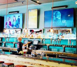 Large TV's with Digital Signage in between