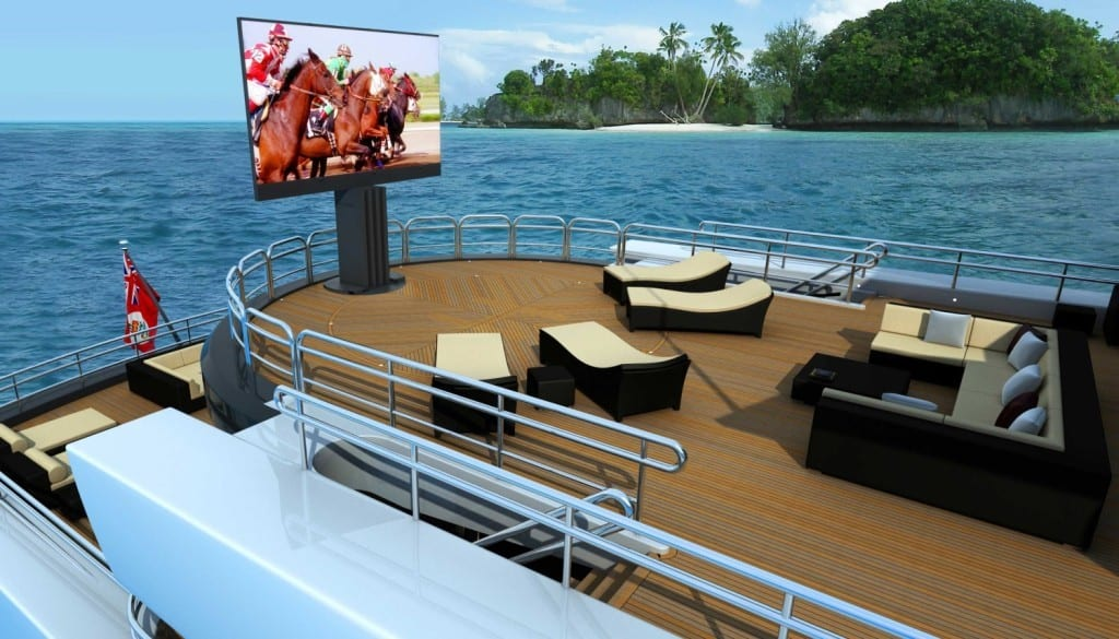 Worlds Largest Outdoor Yacht TV