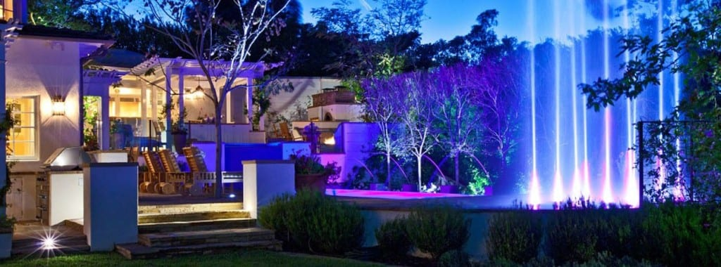 Elegant Outdoor Lighting controlled by home automation