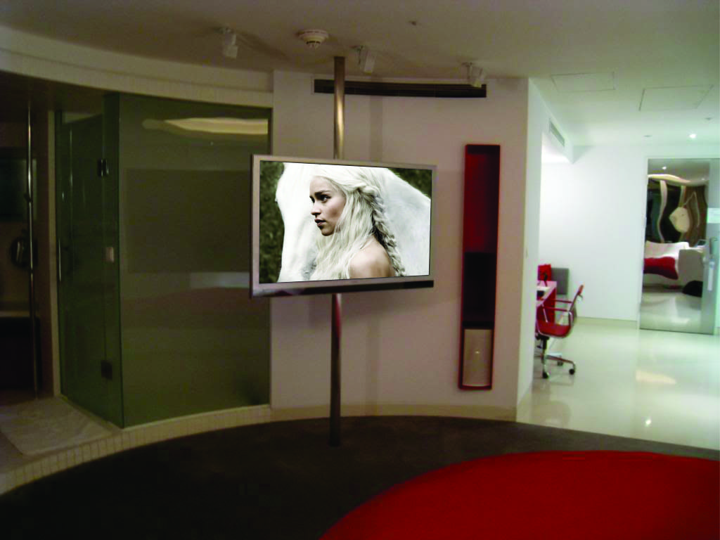 pole mounted tv